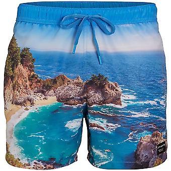 Bjorn Borg deslumbrante litoral Print nadar Shorts, Ibiza azul