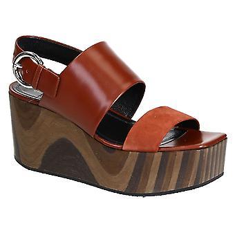 Céline Brown Leather Sandals