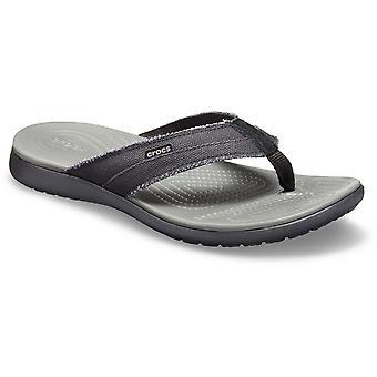 Crocs Mens Santa Cruz Canvas Slip op Flip Flop sandalen