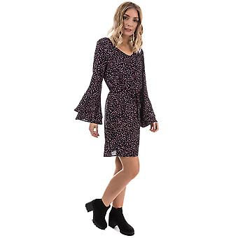 Womens Only Anika Flounce Sleeve Dress In Black