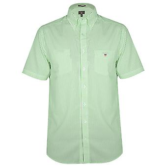 Gant GANT Spearmint gestreiftes regelmäßige Kurzarm-Hemd