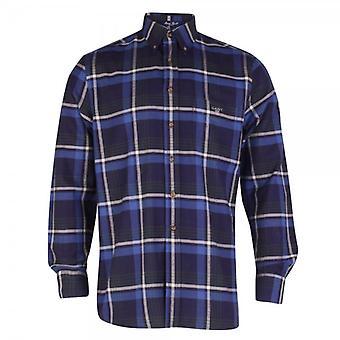 Gant Maine Twill Check Shirt, Ocean Blue