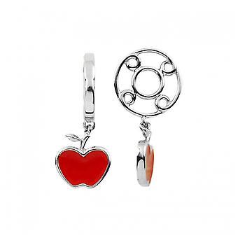 Storywheels Silver & Enamel Apple Dangle Charm S356