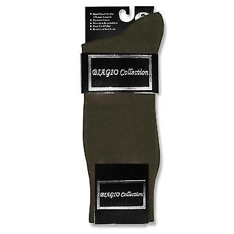 1 زوج من ثوب القطن الصلبة بياجيو الرجال الجوارب