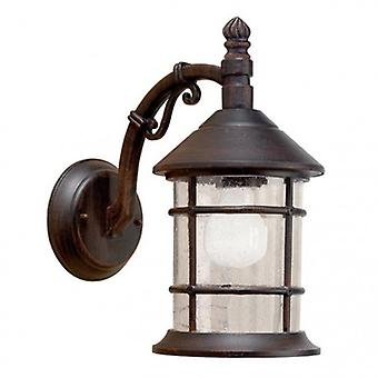 1 Light Outdoor Wall Light Rusty Brown