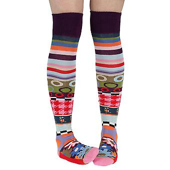 London women's crazy combed cotton over-the-knee socks | Dub & Drino