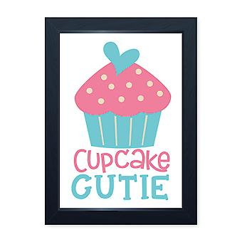 Cupcake Cutie, Quality Framed Print - Kitchen Home Cooking Baking Food Dining