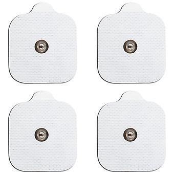 MED-FIT 5x5cm Pack of 12 Flexi Stim 3.5mm Stud TENS Self-Adhesive Pads
