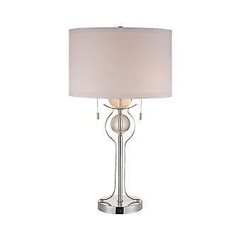 Polished chrome symmetry table lamp stein world