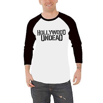 Hollywood Undead honkbal T shirt band logo nieuwe officiële mens wit 3/4 mouw