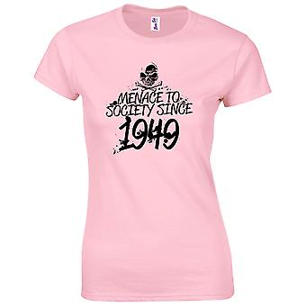 70th Birthday Gifts for Women Her Menace To Society 1949 T-Shirt