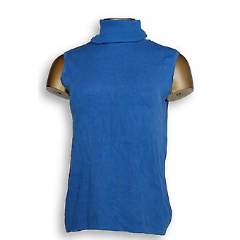 Linea By Louis Dell'Olio Women's Top Knit Turtleneck Blue A293746