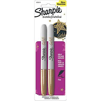 Sharpie Metallic Permanent Markers 2 Pkg Gold 1823813