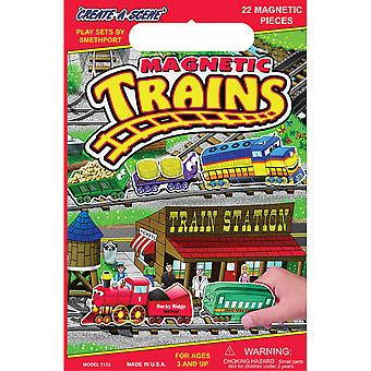 Magnetic Create A Scene Kit Trains Pp7133