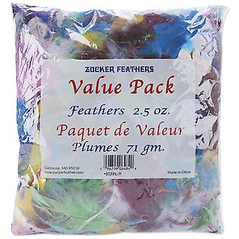Value Pack Feathers 2.5 Ounces Assorted Bigval A