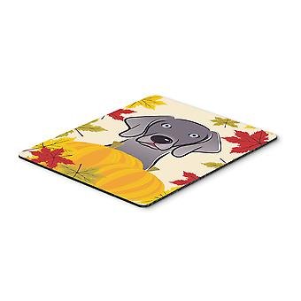 Weimaraner Thanksgiving Mouse Pad, Hot Pad or Trivet BB2037MP