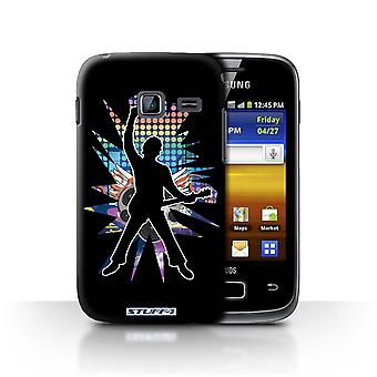 STUFF4 Case/Cover for Samsung Galaxy Y Duos/S6102/Windmill Black/Rock Star Pose