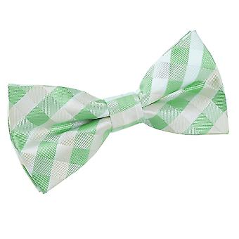 Mint Green Gingham Check Bow Tie