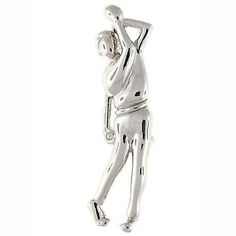 Brooches Store Silver Plated Golf Club Player Brooch
