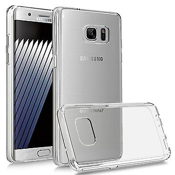 i-Tronixs Galaxy Note 7 Case Acrylic Gel WITH STYLISH COLOR FRAME LOOK-Clear