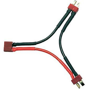 Adapter cable [1x T socket - 2x T plug] 700 mm 2.50 mm² Modelcraft