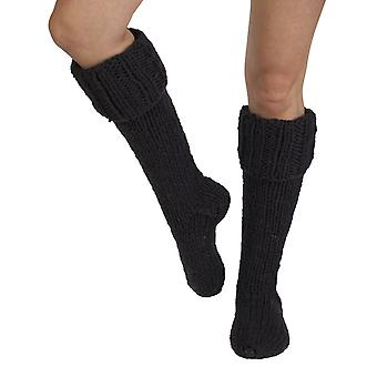 Zermatt men's wool welly socks in charcoal | Fairtrade & hand-made by Pachamama