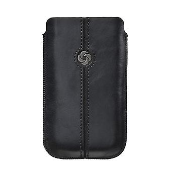 SAMSONITE DEZIR Mobile bag leather Black to tex iP4