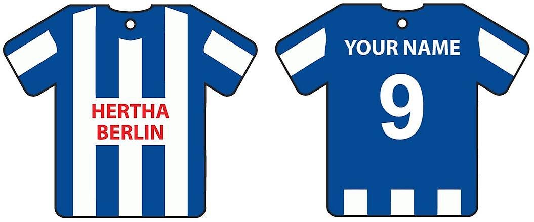 Personalisierte Hertha BSC Berlin Fußball Shirt Auto Lufterfrischer