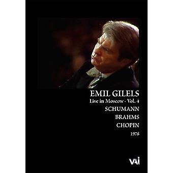 Emil Gilels - Emil Gilels, Live in Moscow, Vol. 4 [DVD Video] [DVD] USA import