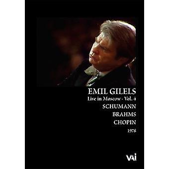 Emil Gilels - Emil Gilels, Live in Moskou, Vol. 4 [DVD Video] [DVD] USA importeren