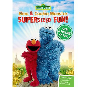 Sesame Street: Elmo & Cookie Monster Supersized [DVD] USA importerer