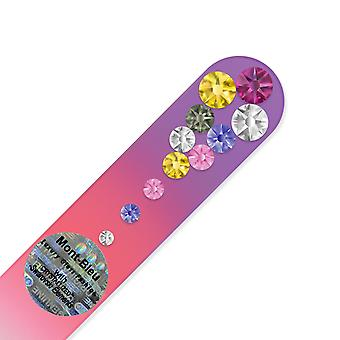 Small glass nail file with Swarovski crystals MC-S1-12