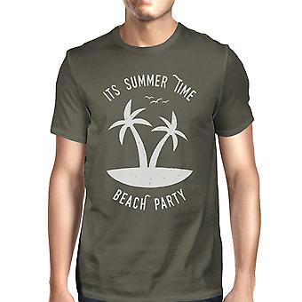 Jest lato czas Beach Party męskie ciemny szary Krótki rękaw Tshirt