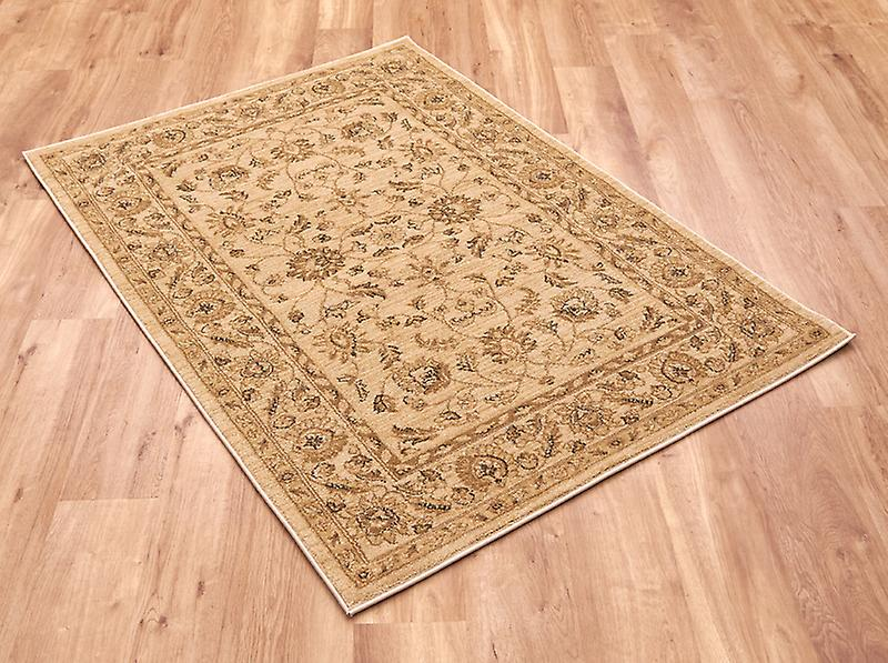 Ziegler 7709-Cream Light beige with pattern in dark beige and grey  Rectangle Rugs Traditional Rugs