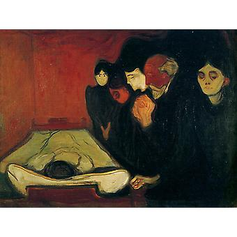 Edvard Munch - The Death Bed Poster Print Giclee
