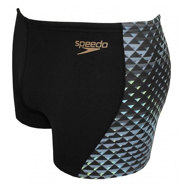 Speedo Endurance+ All Over Digital Panel Aqua Short, Black/Grey