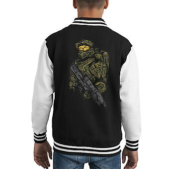 Varsity Jacket Master Chief di Halo capretto