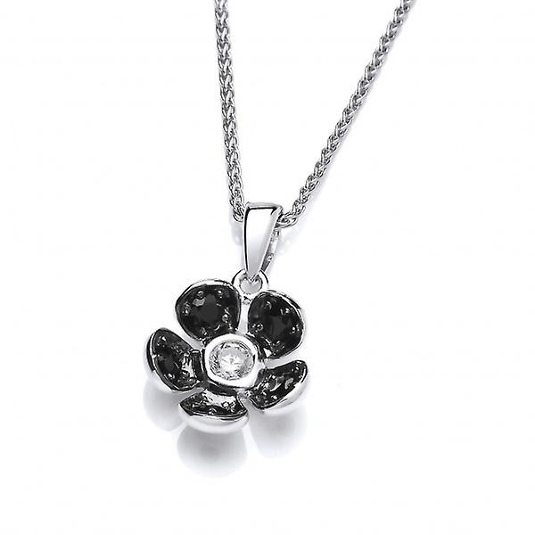 Cavendish French Beautifully Black Crystal Flower Pendant without Chain