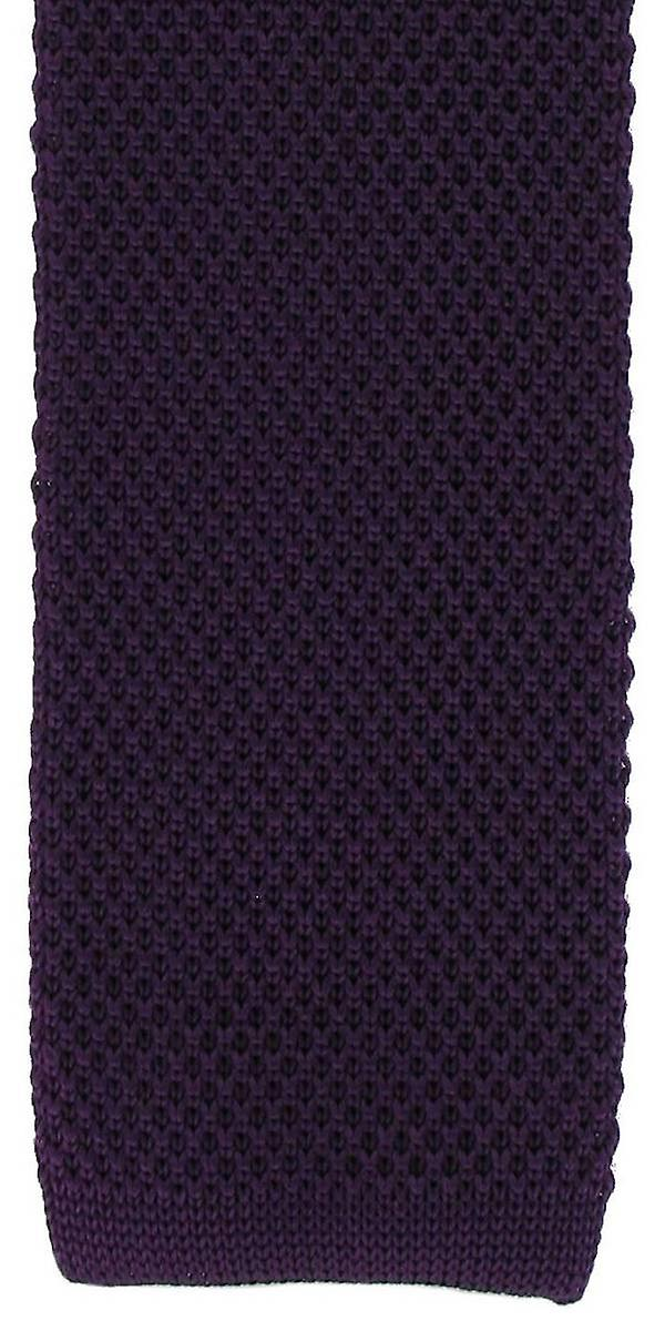 Michelsons of London Skinny Silk Knitted Tie - Purple