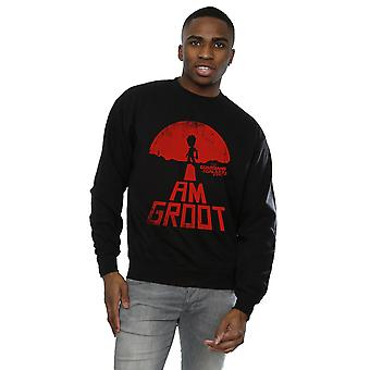 Marvel Men's Guardians of the Galaxy I Am Groot Red Sweatshirt