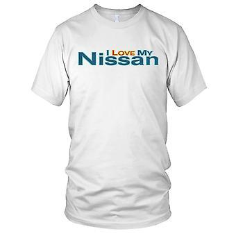 Ich liebe mein Nissan Auto Herren T Shirt