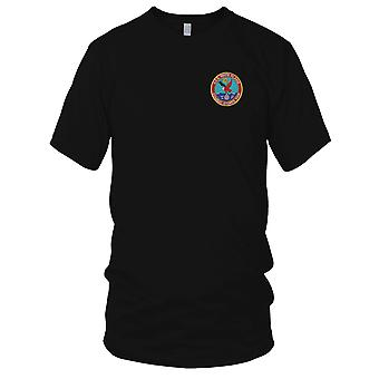 US Navy USS White Plains AFS-4 Combat Stores Ship Embroidered Patch - Mens T Shirt