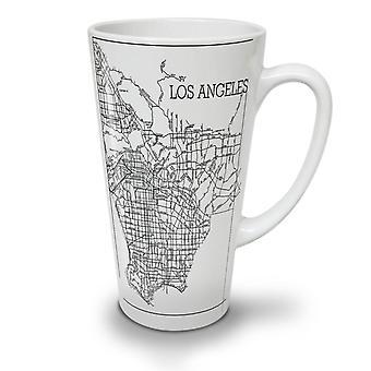 Los Angeles Map Fashion NEW White Tea Coffee Ceramic Latte Mug 17 oz | Wellcoda