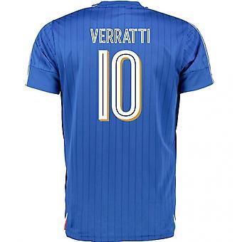 2016-2017 Italia Puma hjem skjorte (Verratti 10) - barn