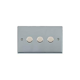 Hamilton Litestat Cheriton Victorian Bright Chrome 3g 100W LED Dimmer BC
