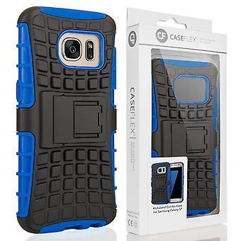 Caseflex Samsung Galaxy S7 støtteben Combo sag - blå