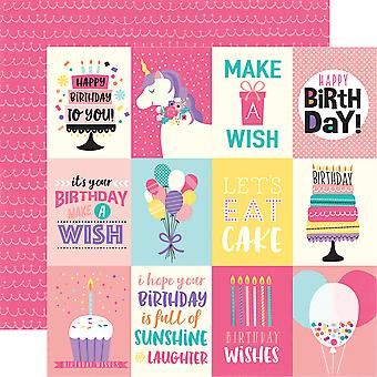 Happy Birthday Girl Double-Sided Cardstock 12