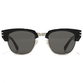 Marc Jacobs Cutting Edge Browline Sunglasses In Black Pale Gold