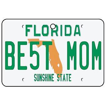 Florida - Best Mom License Plate Car Air Freshener
