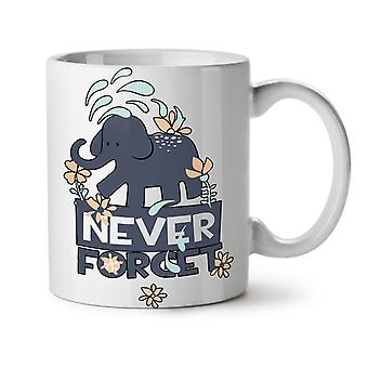 Never Forget Cute NEW White Tea Coffee Ceramic Mug 11 oz | Wellcoda